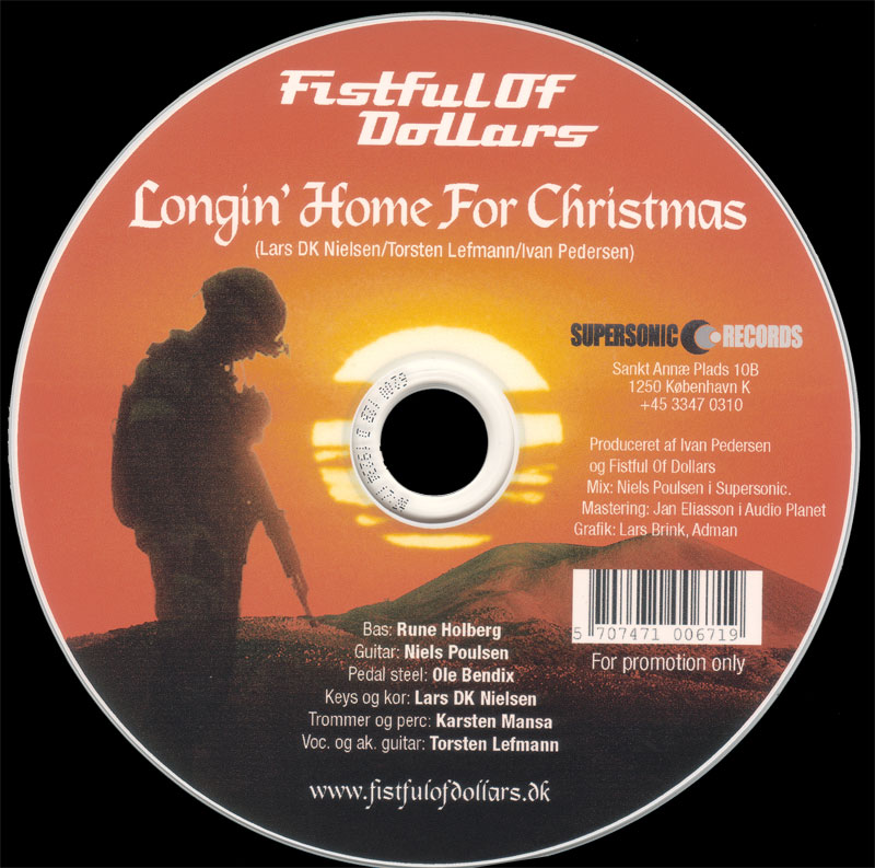 Longin' Home For Christmas single CD